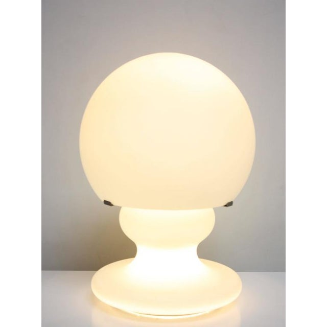 Substantial Mid-Century Italian Modern Cased and Frosted Glass Lamp - Image 2 of 10
