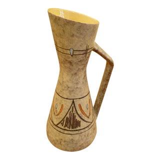 Tall 50s German Ewer Form Vase by Scheurich