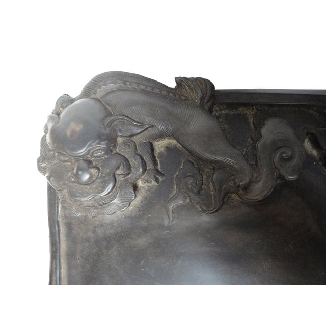 Chinese Inkstone Dragon Sculpture Calligraphy Tool - Image 5 of 6