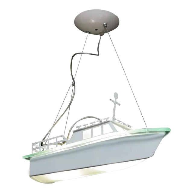 Modern Boat Light Fixture - Image 1 of 3