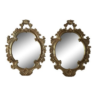 Pair Oversized Gilt Mirrors