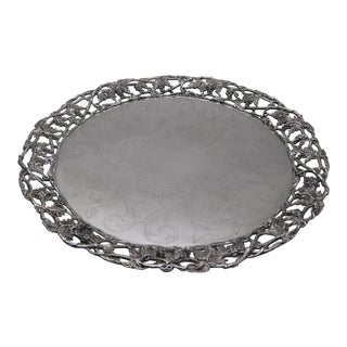 Vintage Silverplate Grape Pattern Serving Tray