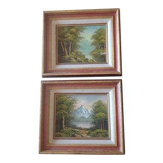 Vintage Landscape Oil Paintings - A Pair