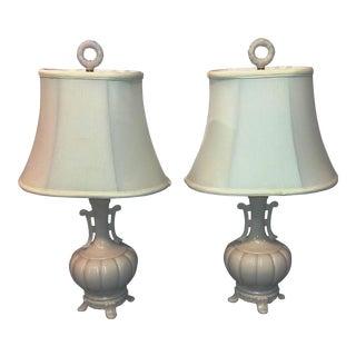 Clambroth Cream Lamps - A Pair