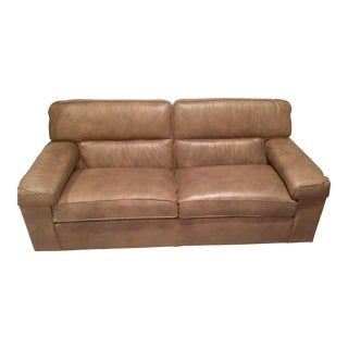 Ethan Allen Leather Sofa
