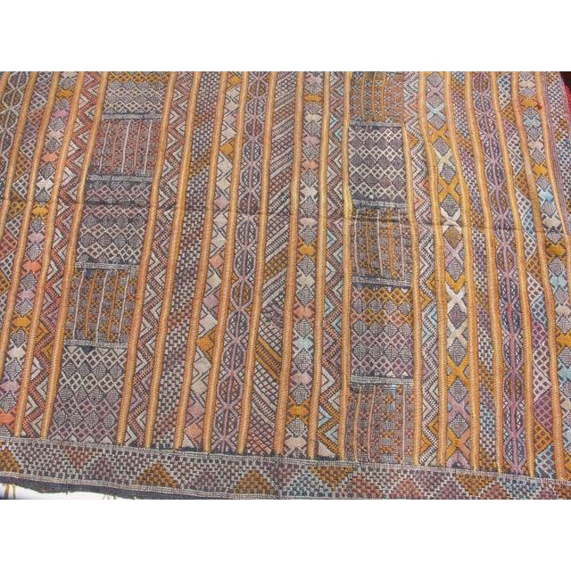 "Moroccan Berber Tribal Kilim Rug - 3' 2"" X 4' 8"""
