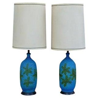 Mid-Century Ceramic Lamps- Pair