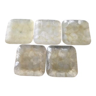 Mother-Of-Pearl Snack Plates - Set of 5