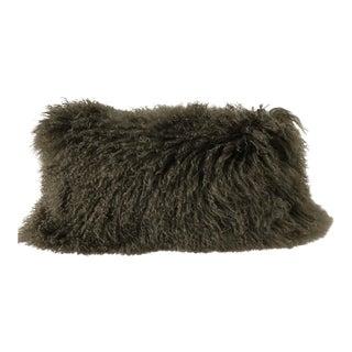 Donna Karan Home Flokati Fur Decorative Pillow