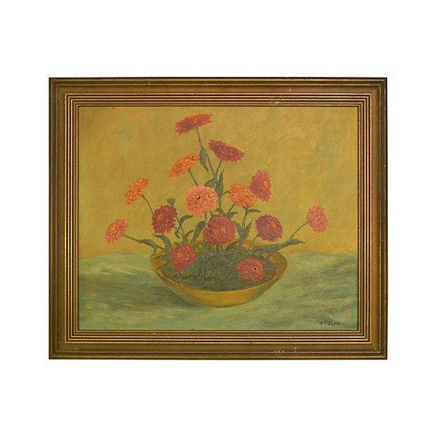 Image of Franz Bowl of Zinnias Painting