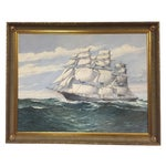 Image of Wendell F. Collum Large Ship Painting