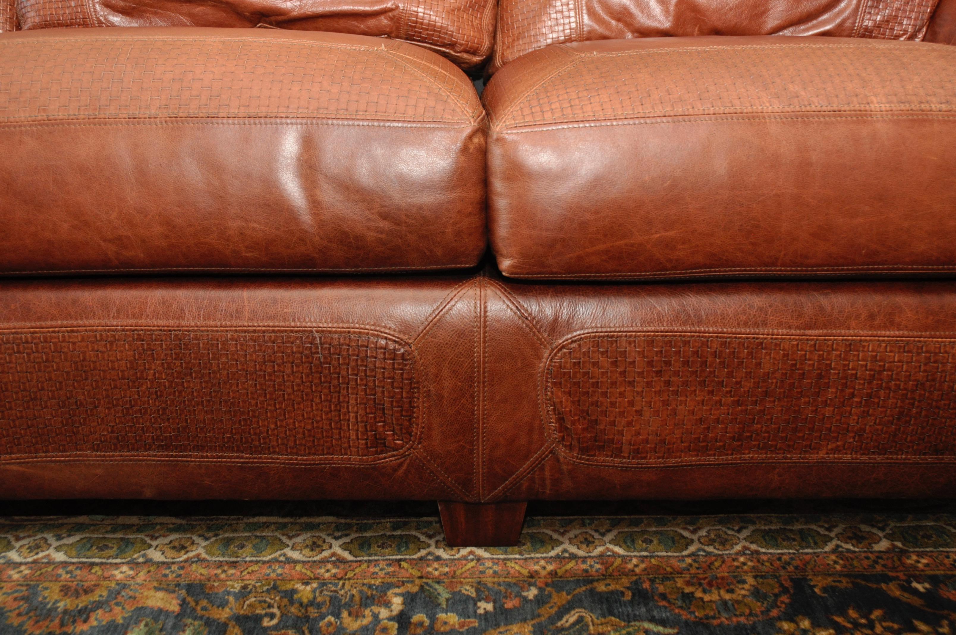 Stickley Cibola Internationale Santa Fe Style Leather Sofa   Image 6 Of 9