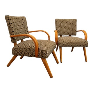 Heywood Wakefield Mid-Century Danish Modern Accent/Lounge Arm Chairs - a Pair