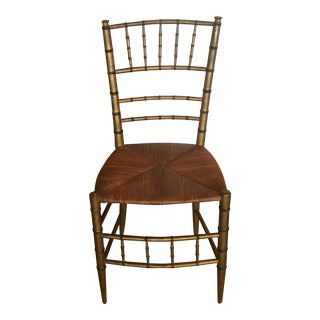 Antique Faux Bamboo Side Chair