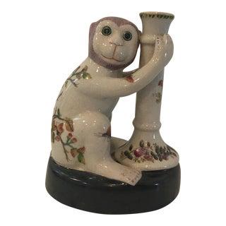 Vintage Ceramic Monkey Candleholder