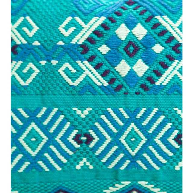 Guatemalan Turquoise Pillow - Image 2 of 4