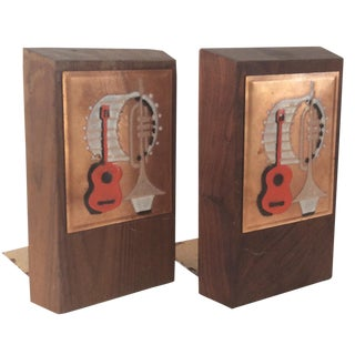 Mid Century Modern Musical Bookends - Pair