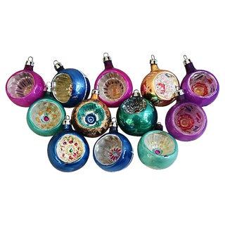 1950s Fancy European Christmas Ornaments w/Box - Set of 12