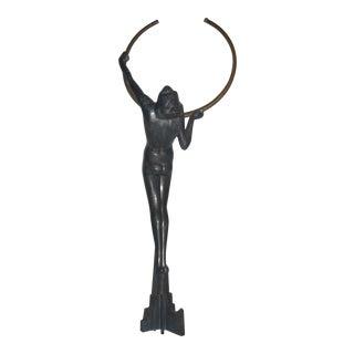 Vintage Art Deco Lady Sculpture