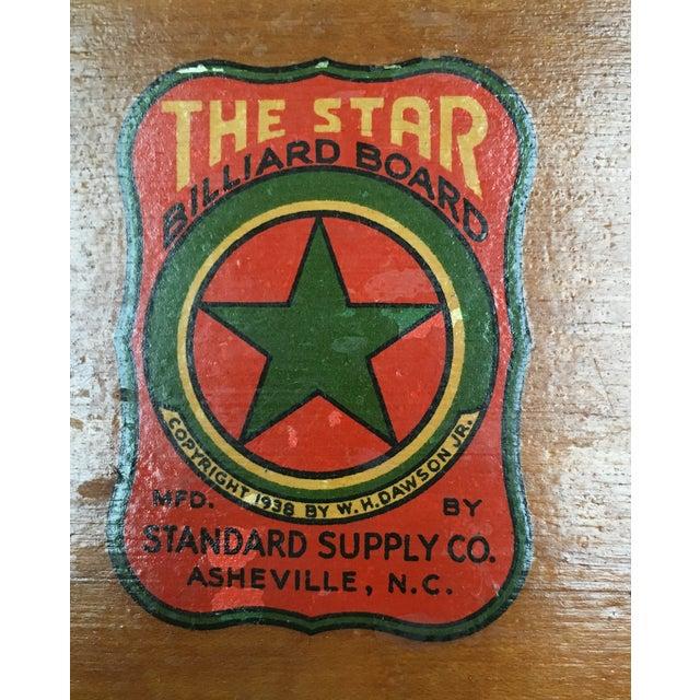 1938 Keeno Star Reversible Gaming Board - Image 3 of 10