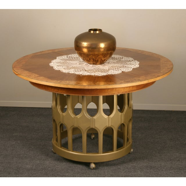 Image of Wood and Gold Refinished Table
