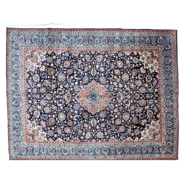 "Leon Banilivi Navy Persian Kashan Carpet - 9'8"" X 12'6"" - Image 2 of 6"