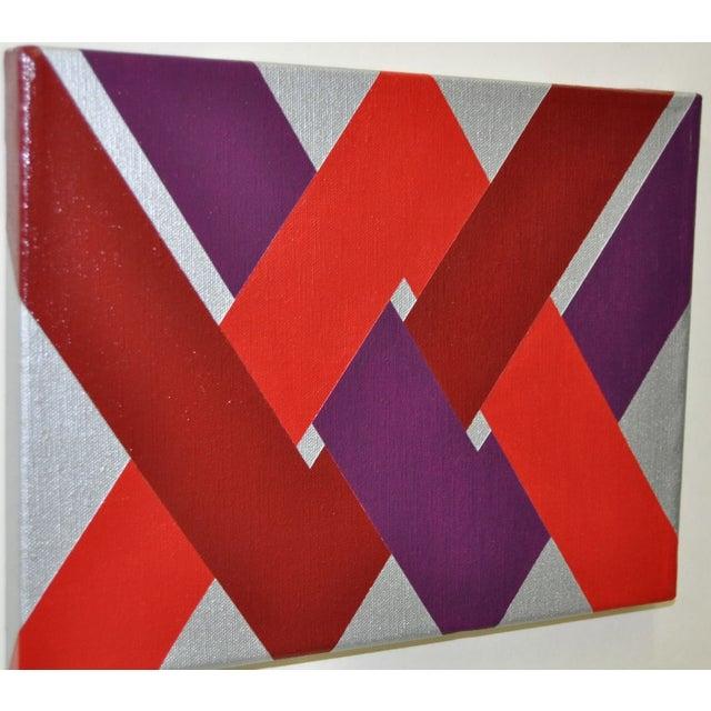 1970 Charles Hersey Vintage Op Art Painting - Image 4 of 6