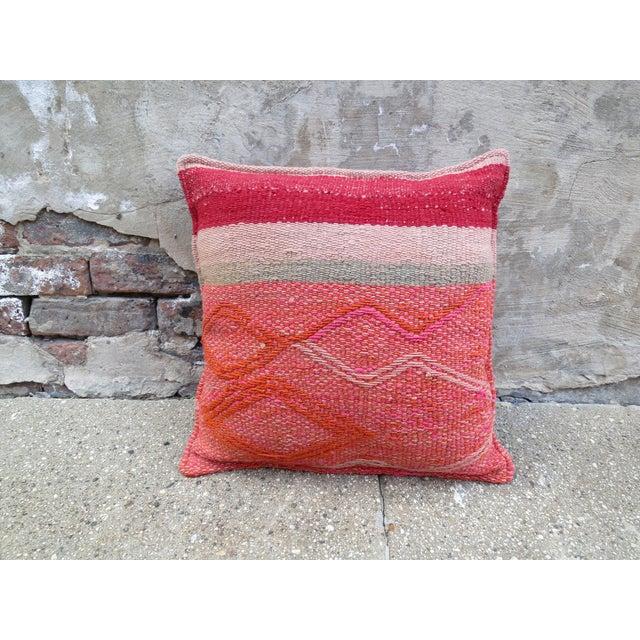 Pink Peruvian Frazada Pillow - Image 2 of 3
