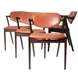 Kai Kristiansen Z-Chairs in Cognac - Set of 4