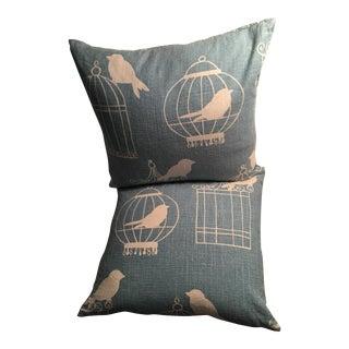 Robins Egg Blue Throw Pillows - A Pair
