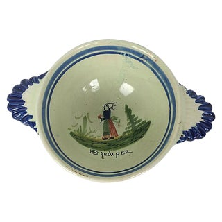 French Quimper Hand Painted Bowl