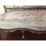 Image of Antique Louis XV Style Tapestry Carved Sette