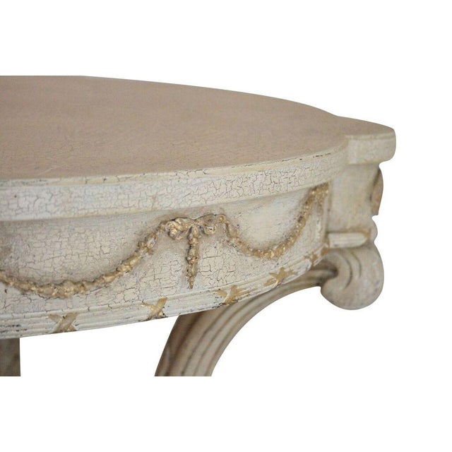 Image of Italian Plume Cream Wood End Tables - A Pair