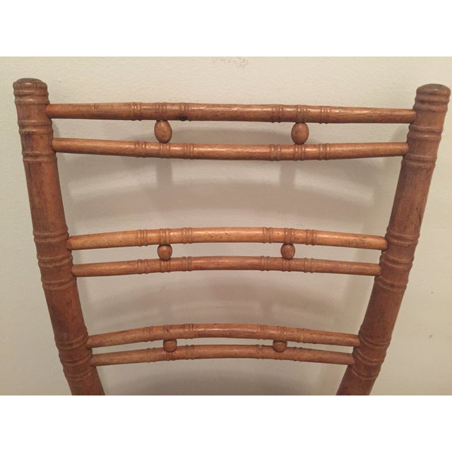 French Country Ladderback Chair - Image 3 of 7