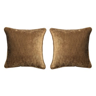 Velvet Decorative Pillows - A Pair