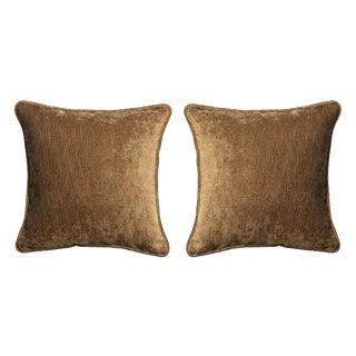 Velvet Decorative Pillows - A Pair