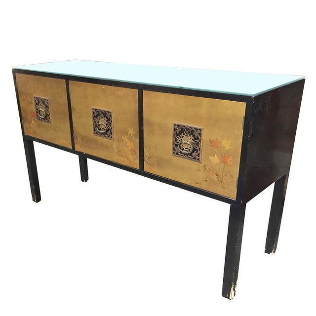 James mont style asian inspired console cabinet chairish for Asian console cabinet