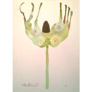 """Botanical Eyes"" Original Watercolor Painting"