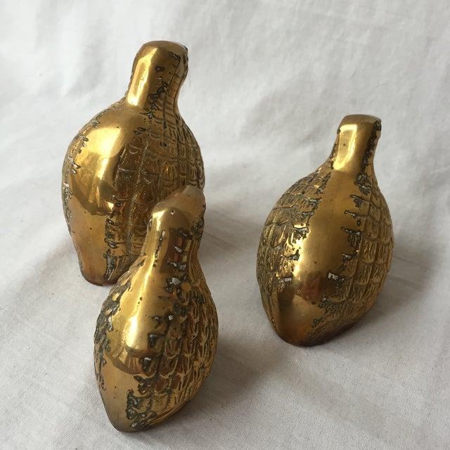 Image of Brass Quails - Set of 3
