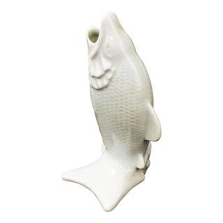 Vintage Porcelain Fish Bud Vase