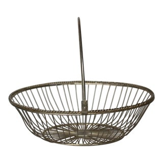 Mid-Century Silverplate Basket