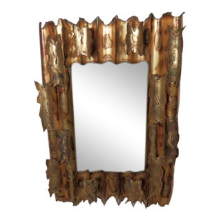 Brutalist Metal Mirror