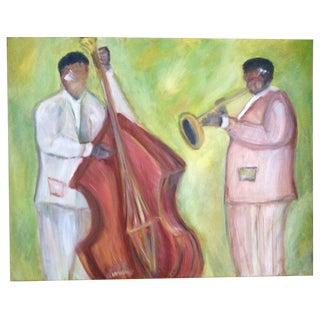 Jazz Duo Oil Painting