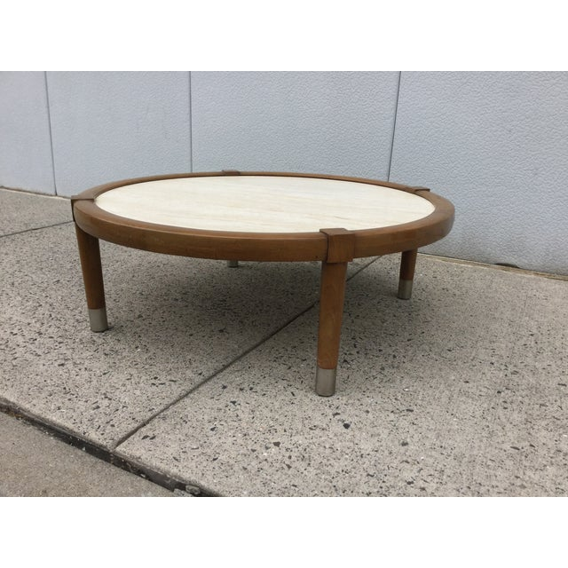 Vintage 1960s Modern Travertine Top Coffee Table Chairish