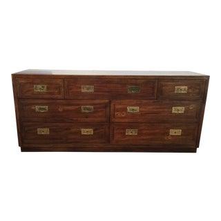Henredon Campaign Seven Drawer Dresser
