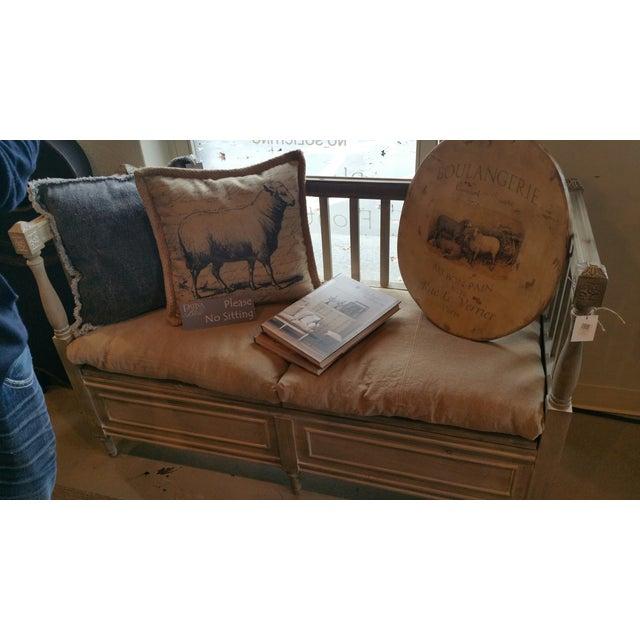 Isabella Bleu Rustic Bench - Image 5 of 5