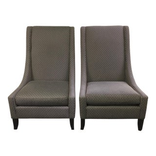 Bernhardt Custom High Back Armchairs - A Pair
