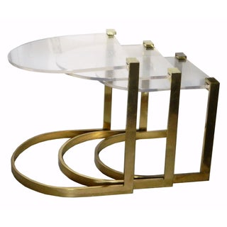 Vintage Bronze Nesting Tables - Set of 3
