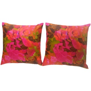 1960s Alexander Henry Textile Pillows - A Pair