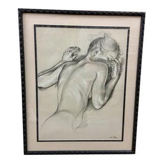 Female Nude Torso Drawing